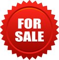 For sale seal stamp badge red Royalty Free Stock Photo