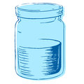 Vector illustration jar water Stock Photography