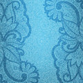 Vector illustration jeans background floral pattern Royalty Free Stock Images