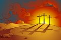 Vector illustration jesus christs crucifixion Royalty Free Stock Photography