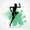 Vector Illustration of jumping man Royalty Free Stock Photo