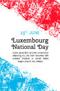 Vector illustration for 23 june Luxembourg day in grunge style. Design template for poster, banner,flayer,greeting, invitation car