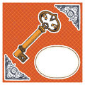 Vector illustration of a key Royalty Free Stock Images