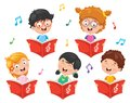 Vector Illustration Of Kids Choir Royalty Free Stock Photo