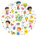 Vector Illustration Of Kids Nature Concept Royalty Free Stock Photo