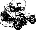 Lawn Mower Illustration Royalty Free Stock Photo