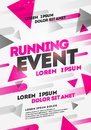 Vector Illustration Layout Poster Template Design For Sport Event, Running Tournament Or Championship