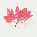 Vector illustration of lily flowers Royalty Free Stock Photo