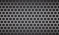 Vector Illustration line white hexagon with black background.
