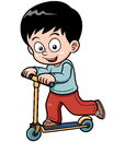 Vector illustration of little boy skateboarding Royalty Free Stock Photo