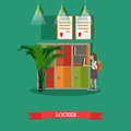 Vector Illustration Of Locker ...