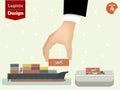 stock image of  Vector illustration of logistics concept design