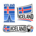 Vector illustration of the logo for Iceland Royalty Free Stock Photo