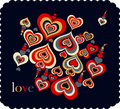 Vector Illustration of love card Stock Images