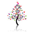 Vector illustration of a love tree Royalty Free Stock Photos