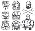 Vector illustration of lumberjack emblems Royalty Free Stock Photo