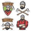 Vector Illustration Of Lumberj...