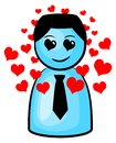 Vector illustration of a man in love Royalty Free Stock Photo
