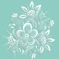 Vector illustration of mehndi ornament. Traditional indian style, ornamental floral elements for henna tattoo Royalty Free Stock Photo