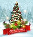 Vector illustration for Merry Christmas and Happy New Year . Gre Royalty Free Stock Photo