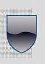 Vector illustration of metal shield empty Royalty Free Stock Photos