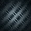 Vector illustration metallic stainless steel wallpaper - abstract black metal grid geometric polygons background