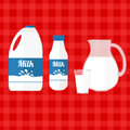 Vector illustration of milk Royalty Free Stock Photo