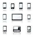 Mobile phone and tablet icons Royalty Free Stock Photo