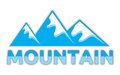 Vector illustration mountain sign Stock Image