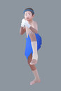 Vector illustration muay thai thai boxing boy Royalty Free Stock Photography