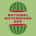 Vector illustration of national watermelon day.