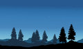 Vector illustration of nature landscape silhouette