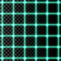 Vector illustration of neon grid,  on transparent background. Royalty Free Stock Photo