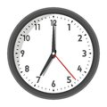 Vector illustration of office wall clock in flat style on white background Royalty Free Stock Photo
