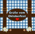 Oktoberfest party Card,  Octoberfest greetings card Royalty Free Stock Photo