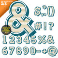 Vector illustration of an old fashioned alphabet vintage style beveled ultra Royalty Free Stock Images