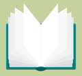 Vector illustration of open book with pages being browsed Royalty Free Stock Photography