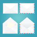 Vector illustration of open and closed envelopes. Royalty Free Stock Photo