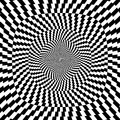 Vector illustration optical illusion black white background illustration Stock Photo
