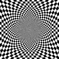 Vector illustration of optical illusion black and white chess background illustration Stock Photos