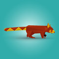 Vector illustration origami red panda Royalty Free Stock Photography
