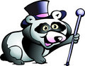 Vector illustration of an Panda Bear Stock Images