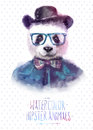 Vector illustration of panda portrait in Royalty Free Stock Photo