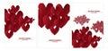 Vector illustration paper heart set design I