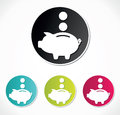 Vector illustration piggy bank icon Stock Photography