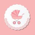 Vector Illustration Of Pink Ba...