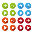 Vector illustration of plain round arrow icons set Royalty Free Stock Photography