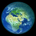 Vector illustration planet Earth. Royalty Free Stock Photography