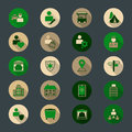 Vector illustration of point of interest icons Royalty Free Stock Photo