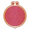 Vector illustration of pomegranates